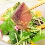 44971417 - ブリと五色野菜サラダ仕立て(晴れ間。本日のゆうげ3,800円+税)