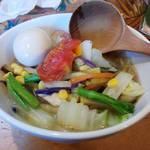 中華そば de 小松 - 昼営業限定バージョンの野菜たっぷりタンメン