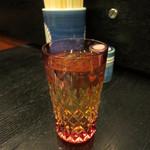 肉料理 阿蘇 - ウイスキー(山崎) 600円、水割りで