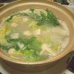 漁火亭 - 白湯仕立 「知床鶏」ヒアルロンサン入りコラーゲン鍋