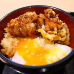 四代目横井製麺所 - ミニ鶏玉丼