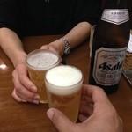 れすとらん 浪花亭 - H.27.7.14.昼 瓶ビール(中) 380円 de 乾杯♪