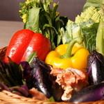 肉 TO 海老 春夏冬 - 季節の野菜焼き