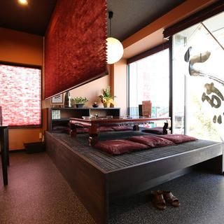 個室風な座敷完備!