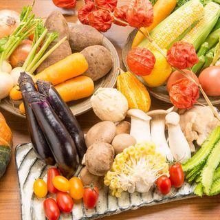 産直市場から仕入れる野菜はどれも新鮮♪