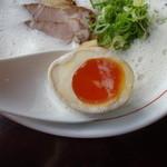 らーめん さのまる - 鶏パイタンエスプーマ・塩(味玉)