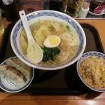 中国ラーメン揚州商人 - エビワンタン麺 Bセット 810円