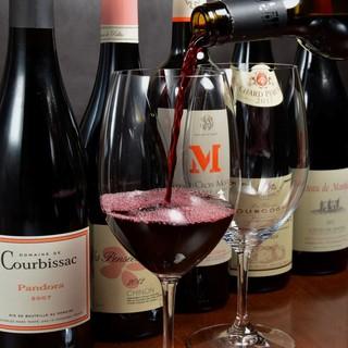 ワインについてはソムリエへ