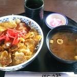 ひこうせん - 料理写真:十勝の豚丼(みそ味)800円
