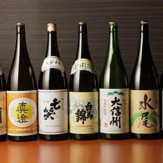 信州&越愛の日本酒と厳選焼酎・ワインが味わえます。