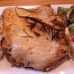 カフェマコト - 「鶏の香草焼き」です。