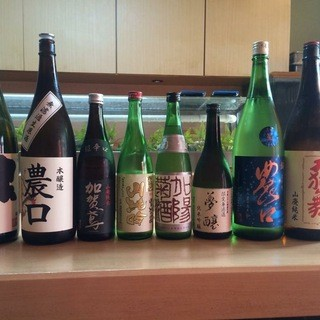 金沢の美味しい地酒と共に