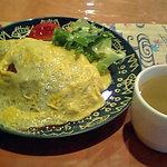 450244 - 挽肉カレーオムライス風