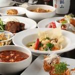 炎麻堂 - 料理写真:三軒茶屋の歓送迎会コースは飲み放題付きで3500円~ございます。