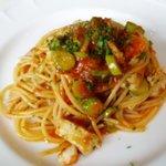 ミュゼオデラファリーナ - 飛魚とアスパラガスのトマトソース