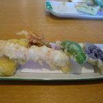 たけ鮓 - ランチの天ぷら