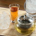 肉汁水餃子 餃包 - 果実系リキュール×台湾茶のポットカクテル。