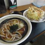 道蕎麦 - かき揚げ丼セットうどん1玉780円