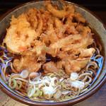 蕎麦樹 - かきあげそば(野菜かきあげ) 560円