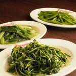 DRAGON酒家 - 青菜炒めは豊富な種類