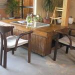 わがまま農園Cafe - 大きなテーブル