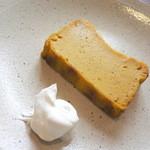 わがまま農園Cafe - かぼちゃのチーズケーキ