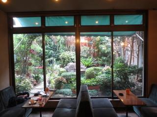 コーヒーショップナカムラ - 裏に庭があり、開放感があります。