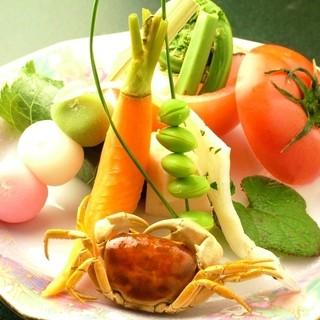 高知の自然が育んだ、様々な食材を使ったお料理をお楽しみ下さい