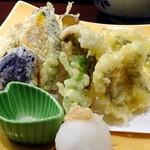 45009367 - 松島湾穴子と天然七ツ森産舞茸の天ぷら