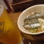 45009858 - 小鮎のコンフィ。さわやかな薫りがビールに最高
