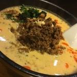 担々麺 無坊 - DAY-1:まろやか豆乳担々麺(肉大盛)
