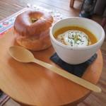 45010746 - サンドイッチとスープのセット 850円