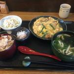 さぬき志度 - 今週のご奉仕品「カツとじ煮定食」