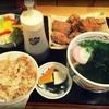 丸亀 - 料理写真:唐揚げ定食(780円)。ボリュームあり!