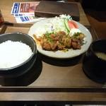 45012100 - 夜ご飯定食(鶏の唐揚げ油淋鶏風)