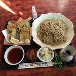 Echigoya - 野菜天せいろ、生蕎麦に変更の大盛りです。             しめて、1940円。