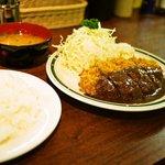 洋食エリーゼ - メンチカツ定食