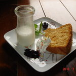 カフェトゥーリー - ケーキセット☆トゥーリーの定番♪手作りシフォンケーキ&牛乳寒天☆