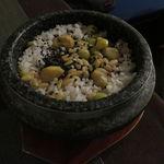 45020048 - 五穀薬膳の炊き込みご飯、栗と銀杏、松の実、黒胡麻と共に1