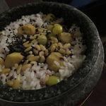 45020049 - 五穀薬膳の炊き込みご飯、栗と銀杏、松の実、黒胡麻と共に2