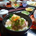 鮨処魚徳 - 鯵のタタキ丼、ひつまぶし風 ¥2,000