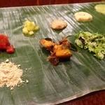 ナッラマナム - 本日のバナナリーフミールス(副菜)