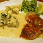 小松屋 - 若鶏のクリーム煮ピエモンテ風、豚肉のソテーロンバルディア風