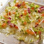 タンタ フェリチッタ - 料理写真:瀬戸内産シマアジのカルパッチョ