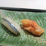 鮨 ます田 - 赤貝、さより