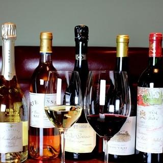 充実したグラスワイン