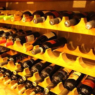 種類豊富なワインを楽しんで。