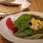 Osteria UVA RARA 横浜 - セットのサラダと自家製パン