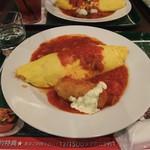 66カフェ - トマトソース ニクリームコロッケ添え