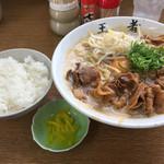 王者-23 - 特製蕎麦 大(肉、卵入り)850円  ご飯小 100円